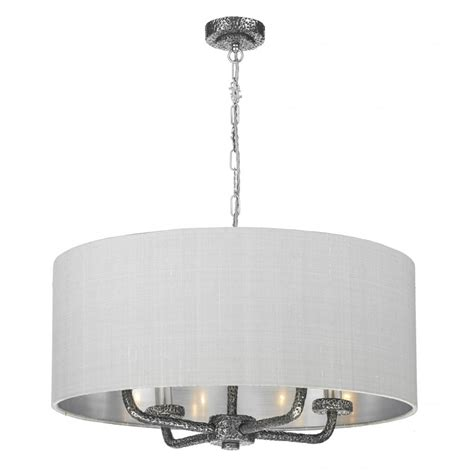 traditional pewter textured ceiling pendant light with