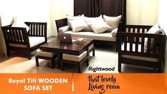 design your livingroom sofa set design royal tilt wooden sofa by rightwood