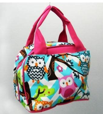 personalized girls insulated lunch bagowl  kozykidzboutique  insulated lunch bags
