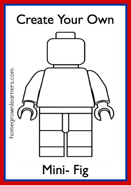 lego freebies create   lego mini figure printable