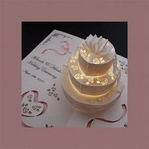 make your wedding invitations pop with 3d effect arabia With pop up wedding invitations tutorial
