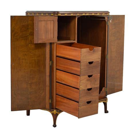 antique wardrobe  gold trim storage