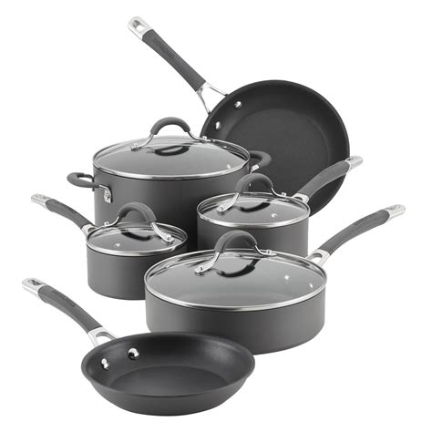 cookware circulon radiance anodized hard piece nonstick gray kitchen dining
