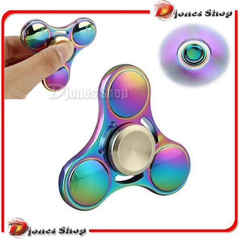 jual fidget spinner titanium rainbow tri