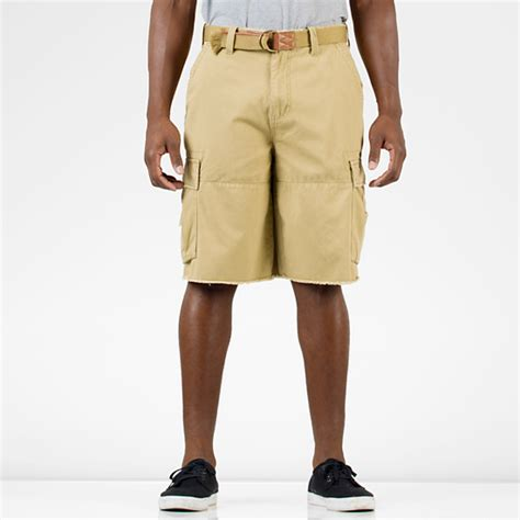 banana shorts split cargo mens camel