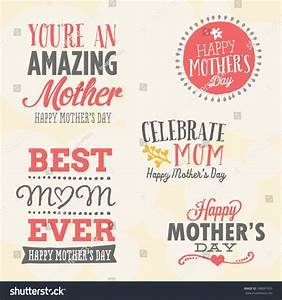 Mothers Day Vector Set 5 Unique Stock Vector 188091935 ...