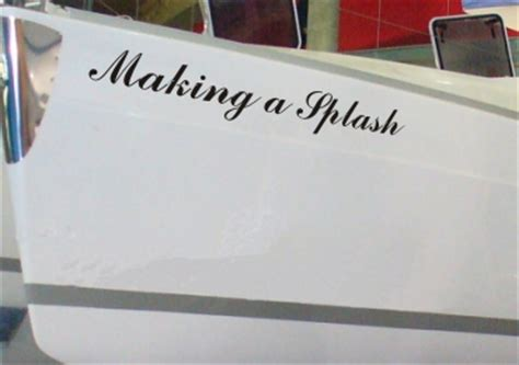 Vinyl Boat Names by Waterproof Vinyl Boat Names Decals Stickers Signs Ebay
