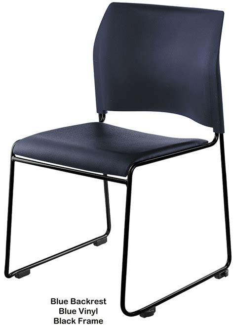 modern style vinyl padded stack chair