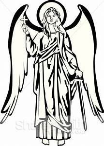 Guardian Angel Black And White Clipart - Clipart Suggest