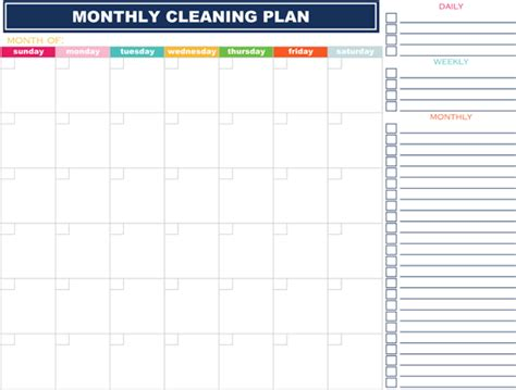 weekly cleaning schedule template how to organize your in 2019 16 free printables spaceships and laser beams