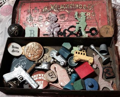 vintage cracker jack prizess monopoly game pieces