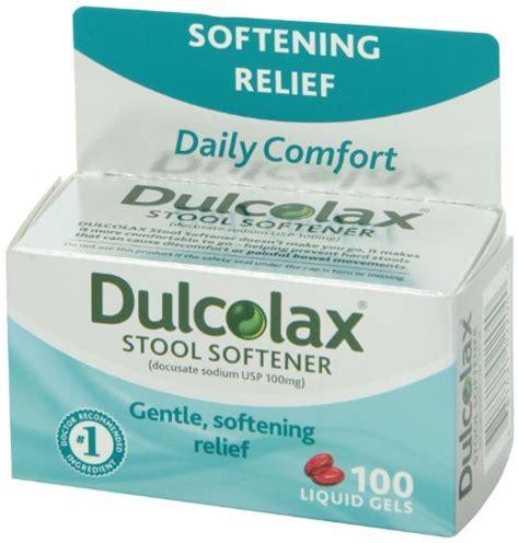 dulcolax stool softner dulcolax stool softener 100 count 681421022040