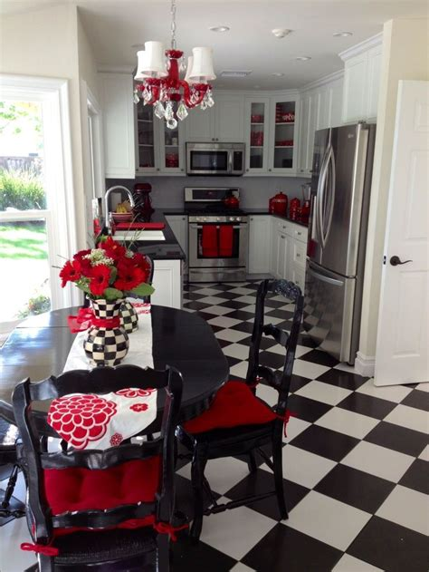 white kitchen  red accents yahoo search results