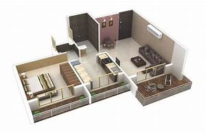25 one bedroom house apartment plans for Home design for single bedroom