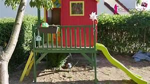 Cabane De Jardin Enfant : montage cabane de jardin pour enfants peinte et am nag e ~ Farleysfitness.com Idées de Décoration