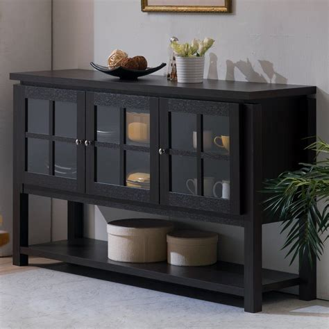 Glass Front Buffet Sideboard by Defined By Its Three Glass Front Doors And Clean Lined