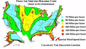 Building Codes Wind Speed Design Map