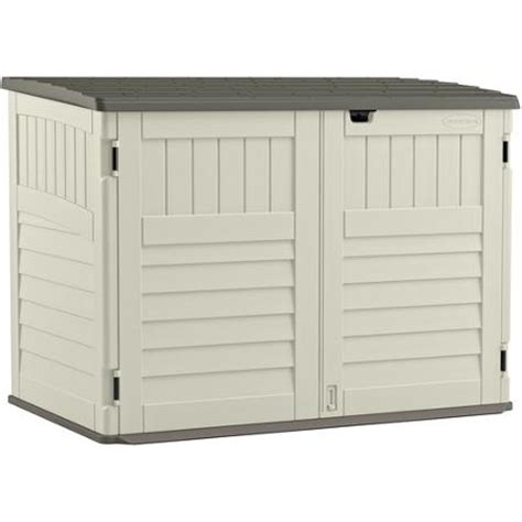 Suncast Toter Trash Can Shed by Suncast Toter Trash Can Shed Vanilla Walmart