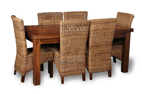 rattan dining chairs simple