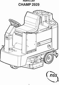 Nss Champ 2929 Rider Floor Scrubber Parts Manual