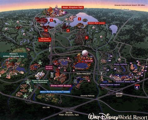 walt disney world resort map florida find   tsum