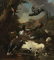 Old Oil Painting Dead Duck