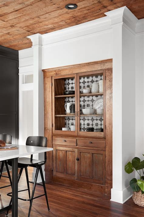 built in china hutch kitchen storage idea the built in china cabinet emily a