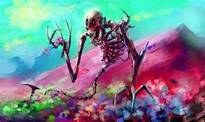 Skelton, Skull, Colorful, Digital, Art, Hd, Artist, 4k