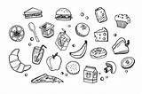 Lunch Doodles Features Doodle Creativemarket Draw Graphic sketch template