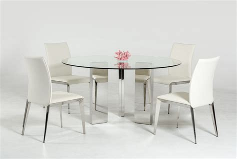 modern  glass top dining table  stainless steel