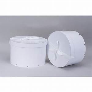 Boite Ronde Blanche : boite chapeau en carton blanche x2 thisga ~ Teatrodelosmanantiales.com Idées de Décoration