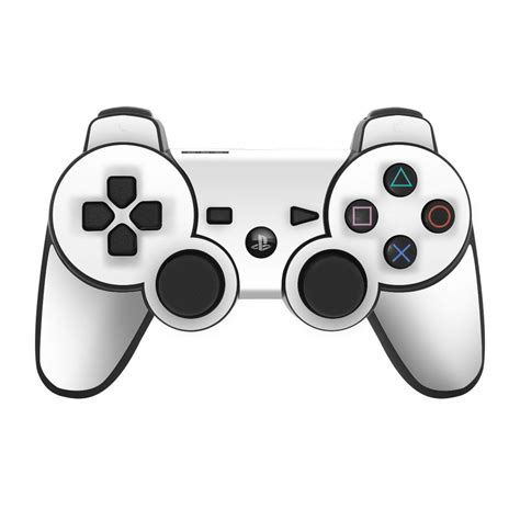 ps controller skin solid state white  solid colors