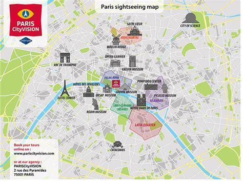 paris tourist map downloadable map pariscityvision