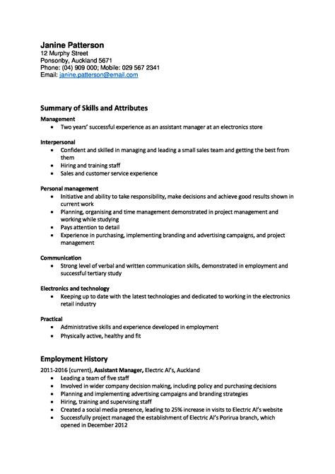 Cv Template Nz For Students | planner template free