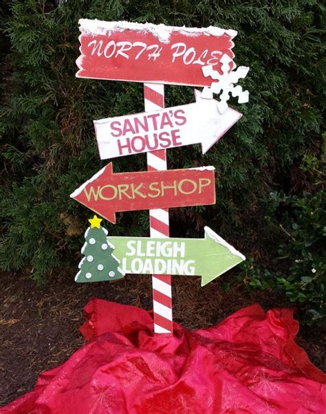 wooden outdoor christmas decorations christmas decor wooden north pole yard stake outdoor christmas decor