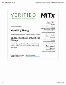 MITx 20.305x Certificate | edX