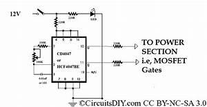 cd4047 based squarewave inverter oscillator circuits diy With simple inverter circuit using cd4047