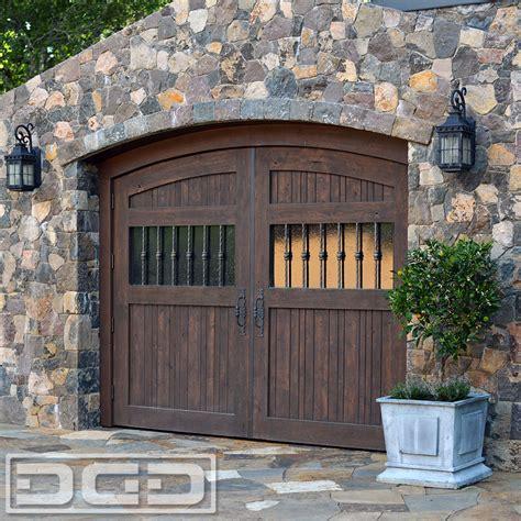 rustic style wooden carriage garage doors