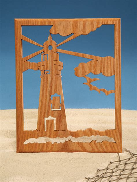lighthouse silhouette scroll  woodworking crafts