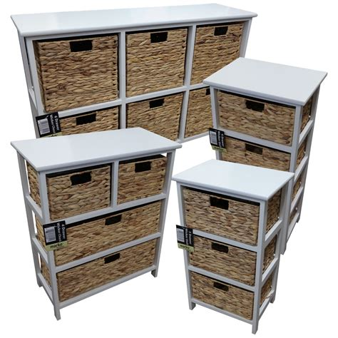 3 Drawer Wicker Chest Walmart by 3 4 6 Drawer Wicker Chest With White Wooden Frame