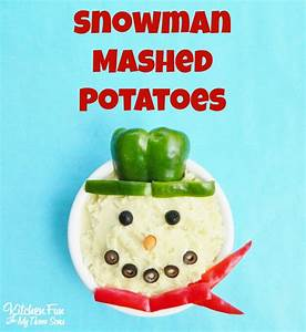 Snowman Mashed Potatoes For Christmas Dinner The BJ39s