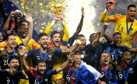 Photos France Overpower Croatia Win Second World Cup