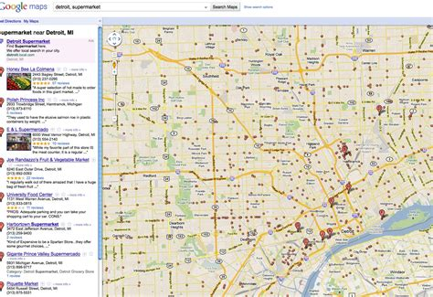 detroit store map map  detroit store michigan usa