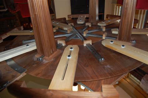 expanding round table plans extendable dining table plans woodguides
