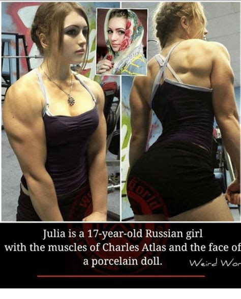 Russian Girl Meme - julia is a 17 year old russian girl with the muscles of charles atlas and the face of a