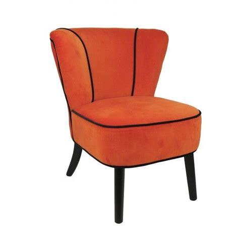 fauteuil velours orange fauteuil crapaud orange aspect velours mobilier