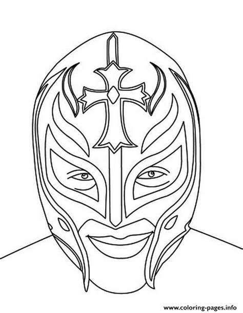 rey mysterio mask face coloring pages printable