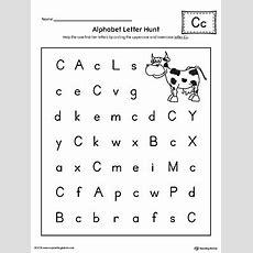 Alphabet Letter Hunt Letter C Worksheet Myteachingstationcom