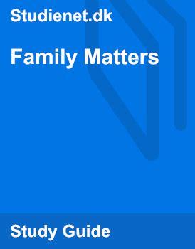 Family Matters   Summary