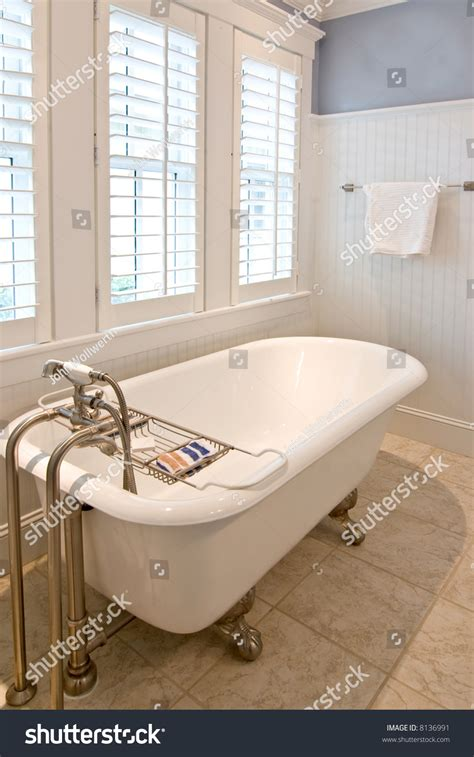 Modern Bathroom With Clawfoot Tub by Classical Modern Bathroom With Clawfoot Tub Stock Photo